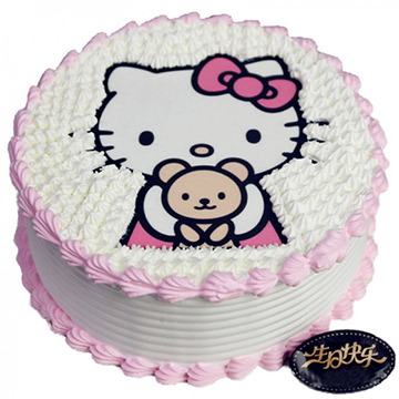 Hello Kitty-圆形鲜奶蛋糕