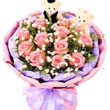 致美麗的你-11支精品粉玫瑰