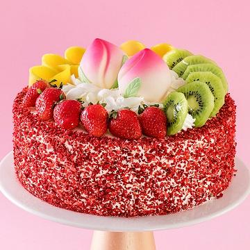 仙桃贺寿水果蛋糕