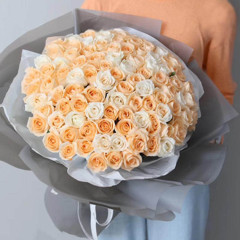 天天快乐-99支精品混色玫瑰