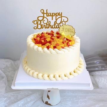 芒果+草莓鲜奶蛋糕
