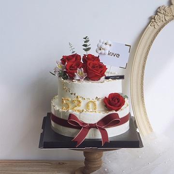 520爱情主题蛋糕