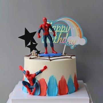 蜘蛛侠主题奶油蛋糕