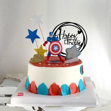 美国队长主题鲜奶蛋糕