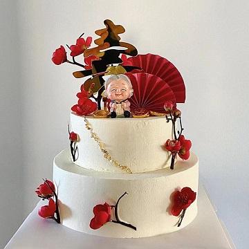 双层网红祝寿蛋糕
