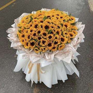 小太阳-99朵精品向日葵花束