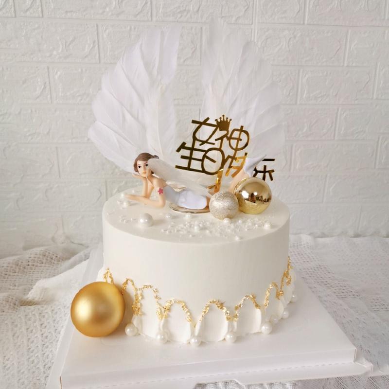 花仙子主题网红奶油蛋糕