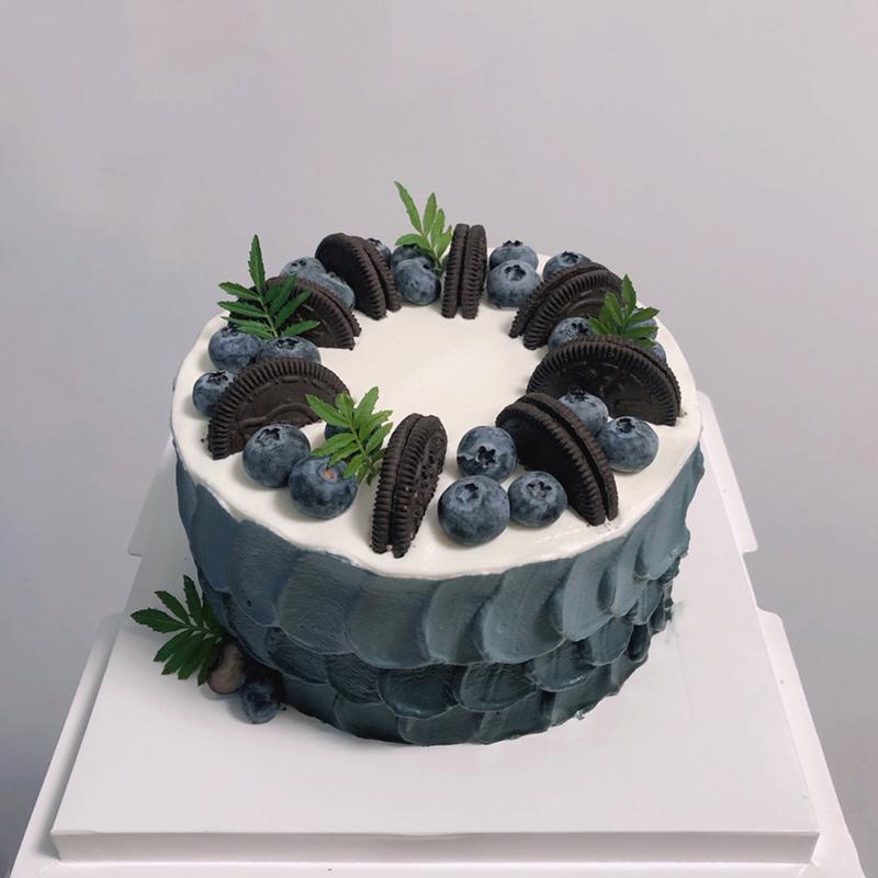 男士森系奶油蛋糕