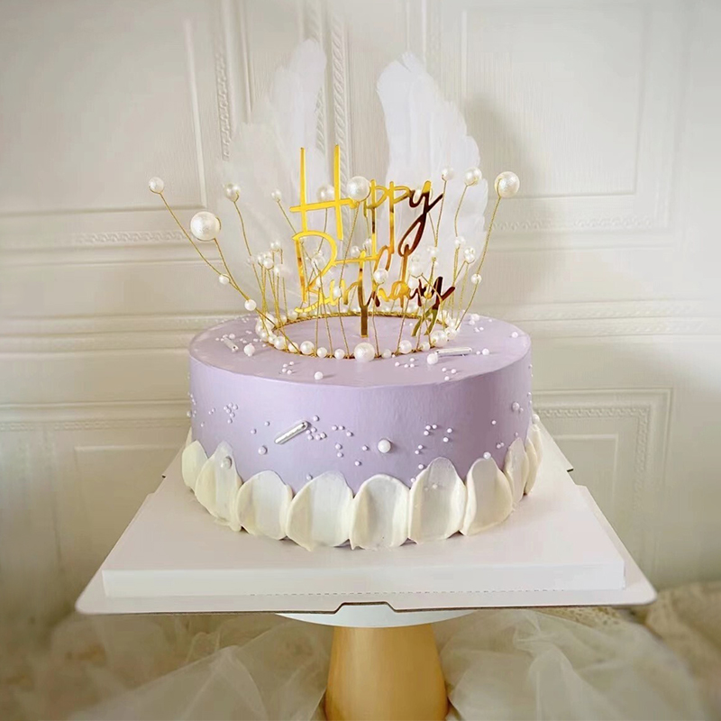 网红款皇冠主题奶油蛋糕