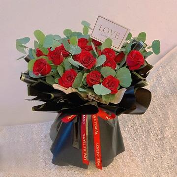 温馨的爱-19朵精品红玫瑰