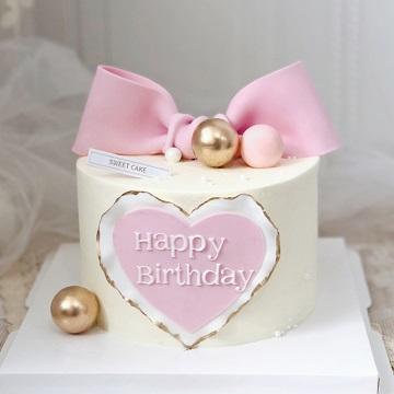 少女心粉色系翻糖蛋糕