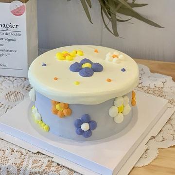 小清新花朵主题奶油蛋糕