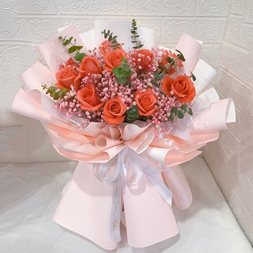 暖暖情意-11支精品粉玫瑰