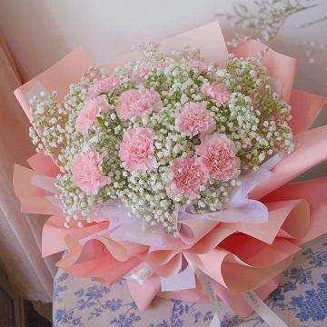 心声-11支精品粉色康乃馨