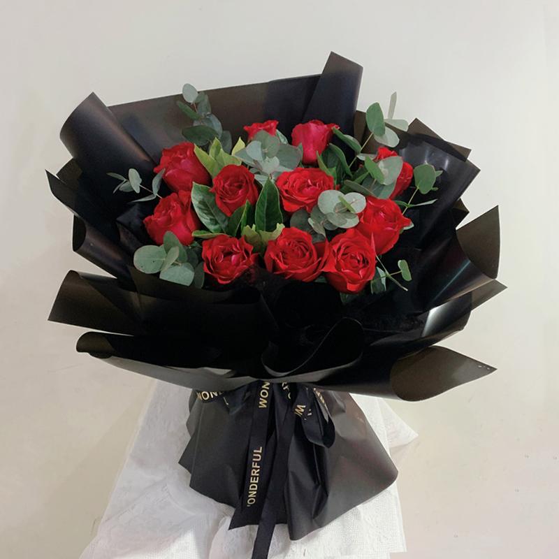 温柔绽放-11支精品红玫瑰