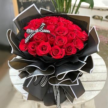 恩恩爱爱-33支精品红玫瑰